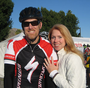 Berman & Riedel, LLP, Firm Partners (and husband and wife), William Berman and Kelley Riedel, pictured at the 2010 Tour de Palm Springs