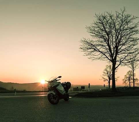 Motorcycle on street