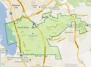 Map of Chula Vista