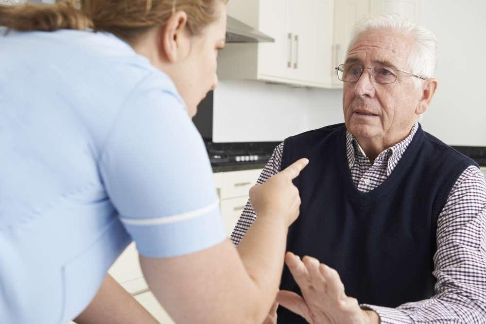 Caregiver mistreating a senior - Elder Abuse